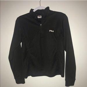 Fila Athletic Jacket black long sleeved sz small